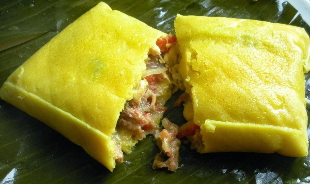 Hallacas comida tradicional navideña de venezuela