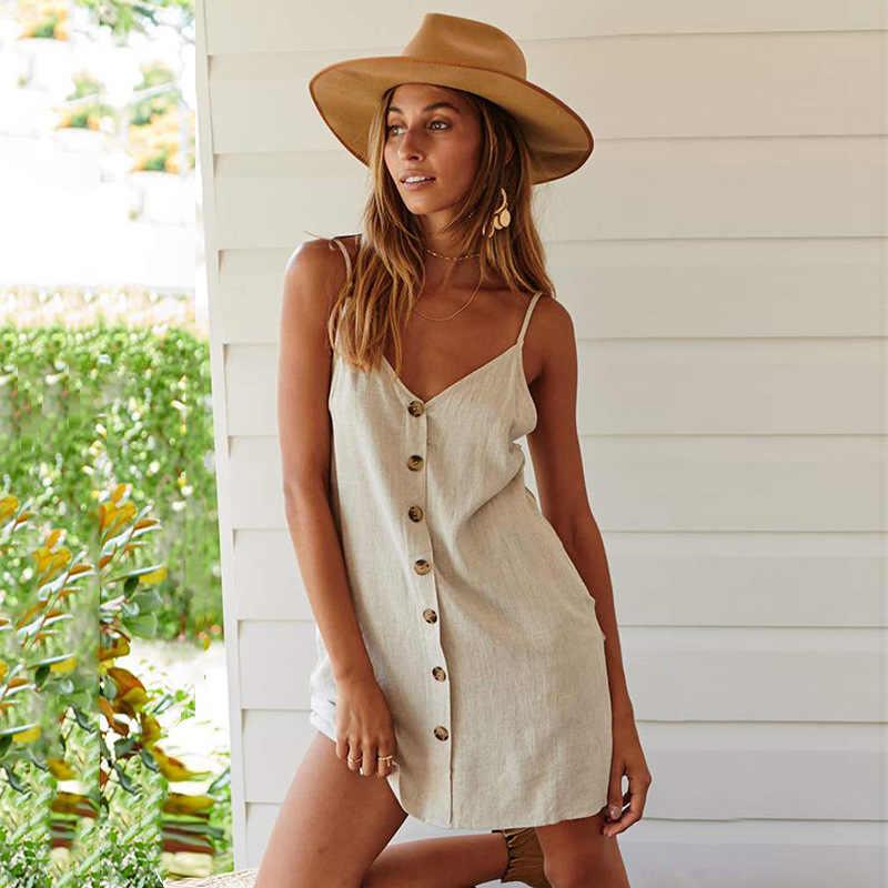 Vestido Corto de Lino - vestidos de fiesta cortos