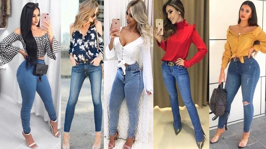 outfit con jeans y tacones