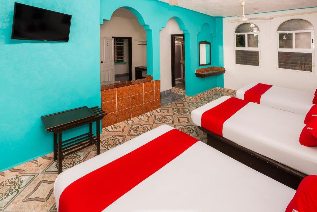 hotel america- donde alojarse economicamente en bacalar