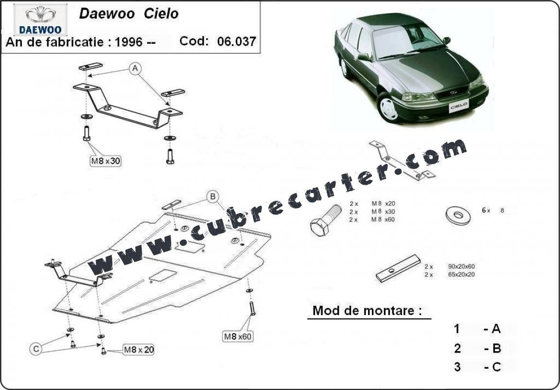 Cubre Carter Metalico Daewoo Cielo