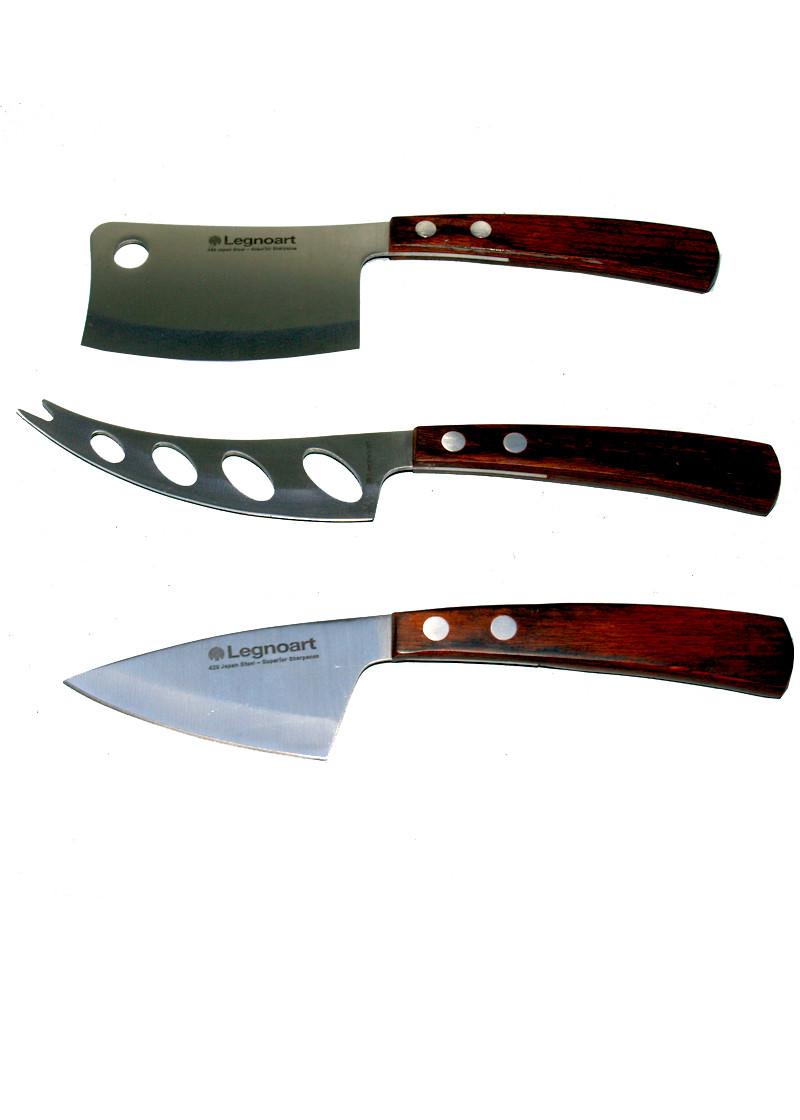 legnoart set cheese knives