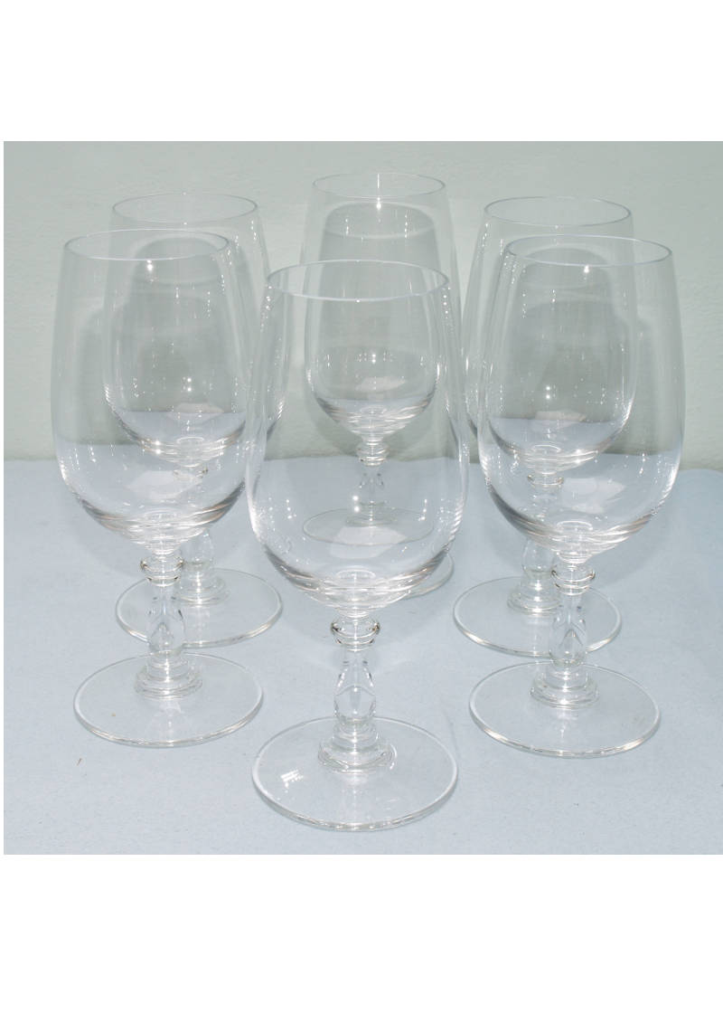 Alessi Dressed Glasses White Wine 6 Pcs