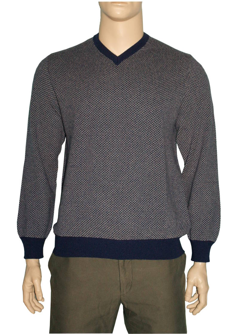 Piacenza Cashmere Mens V Neck Sweater