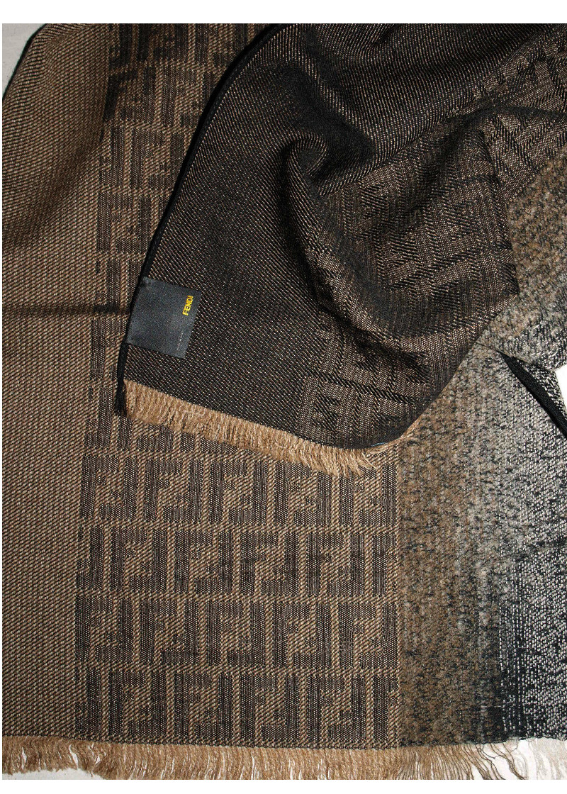 Fendi Brown Scarf