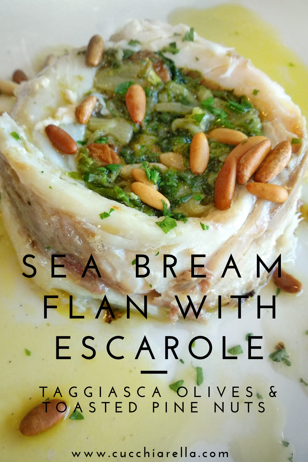 sea bream flan for pinterest
