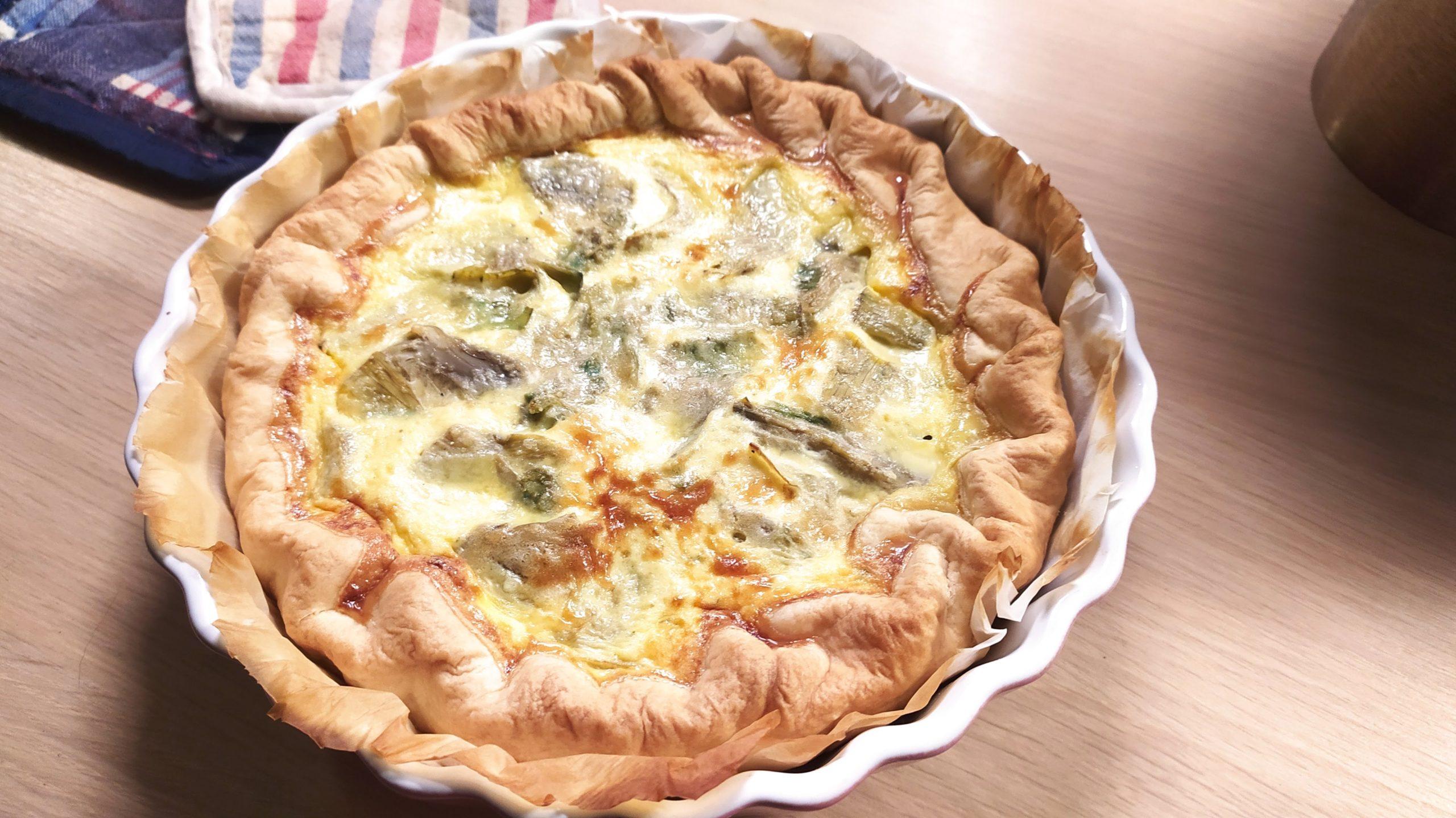 artichokes cheese savory pie
