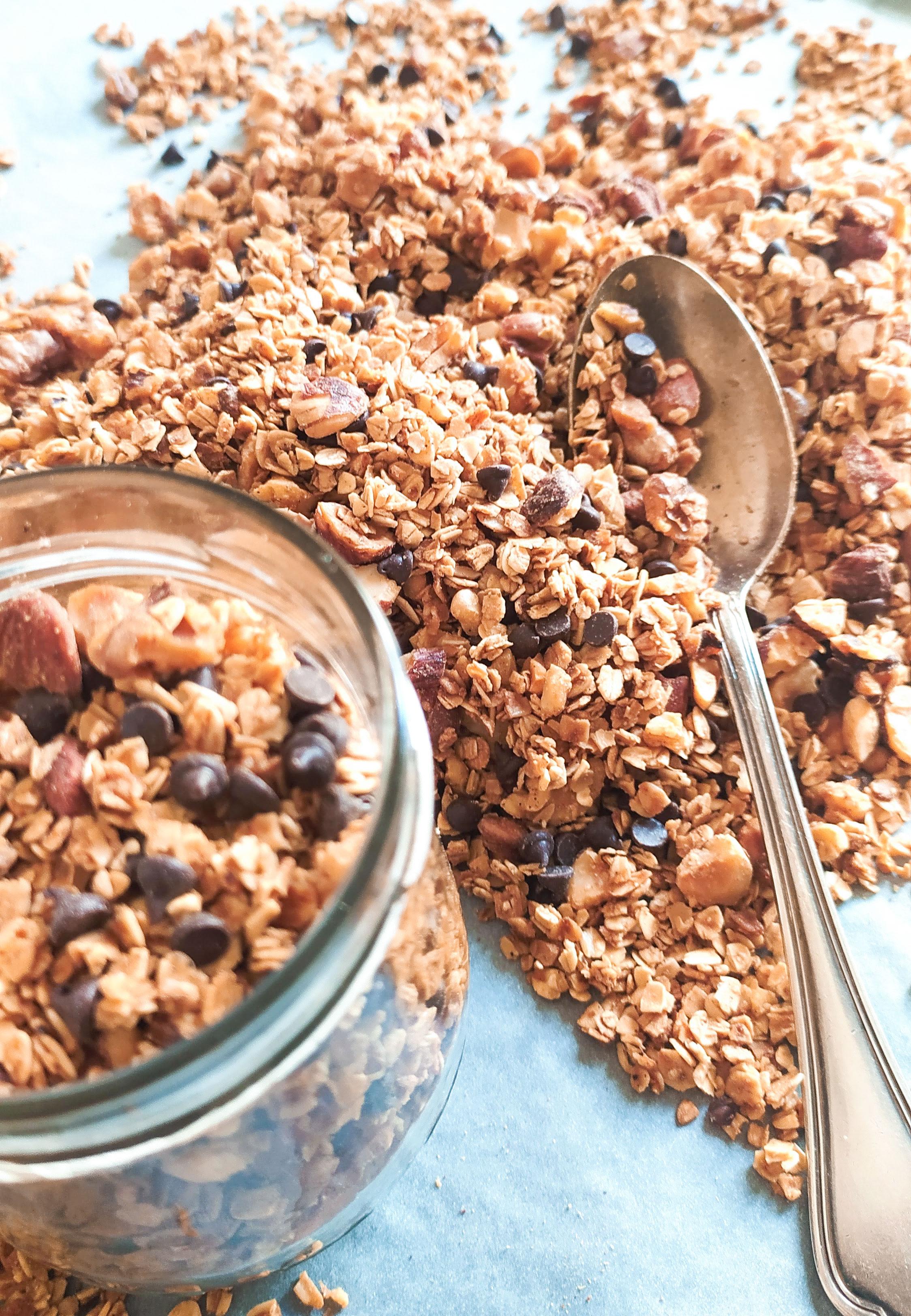 granola homemade closeup