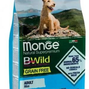 Monge BWild Grain Free – Acciughe con Patate e Piselli – Mini Adult