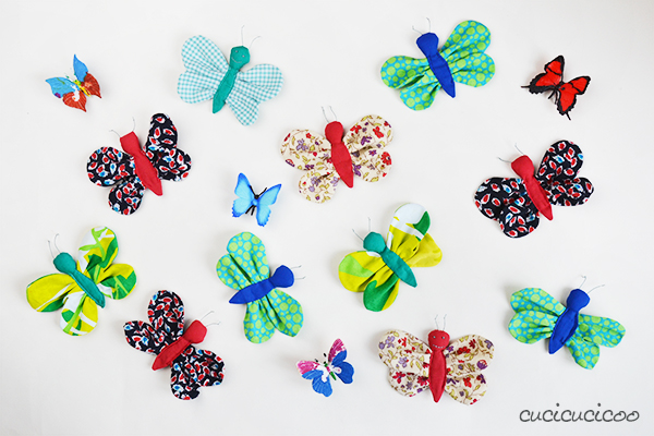 DIY sewing tutorial: Scrap fabric butterflies