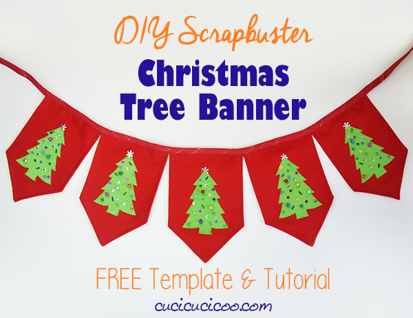 DIY Christmas Tree Banner - Free Sewing Pattern