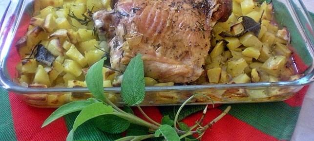 Sovracoscia di tacchino al forno con patate e spezie