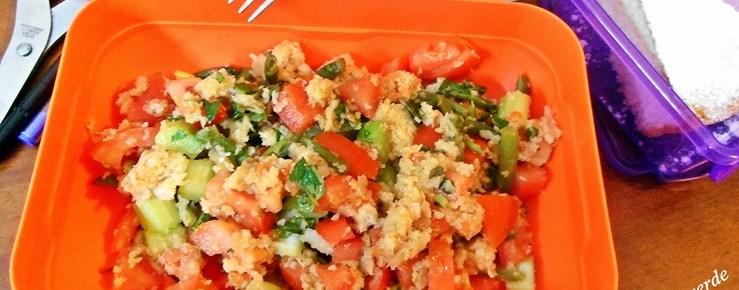 Panzanella verde ricetta bento