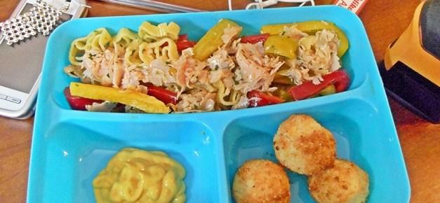 Insalata di pasta ai peperoni ricetta bento