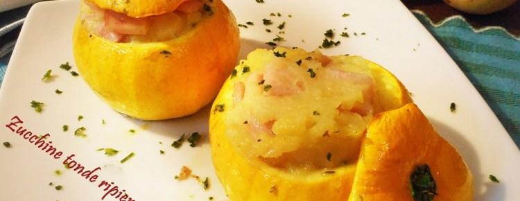 Zucchine tonde ripiene di purea di patate
