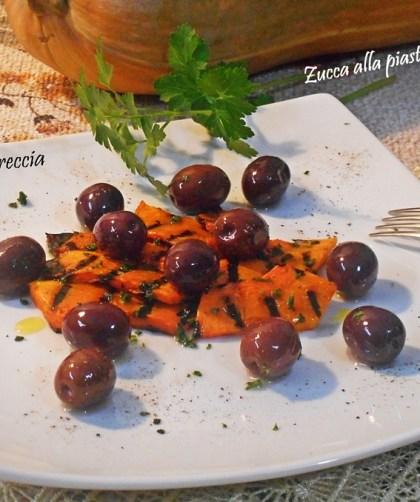 Zucca grigliata con olive