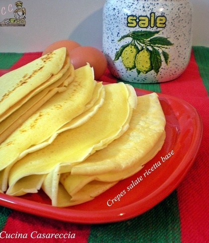 Crepes salate ricetta base