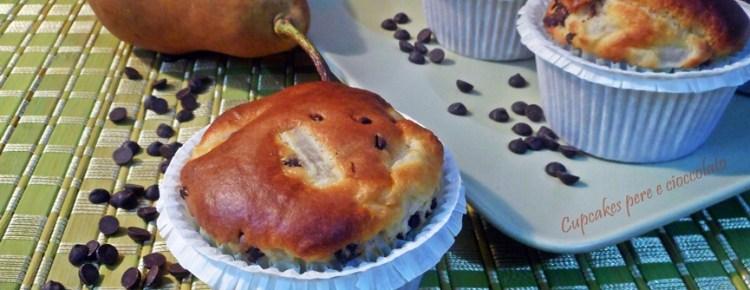 Cupcakes pere e cioccolato