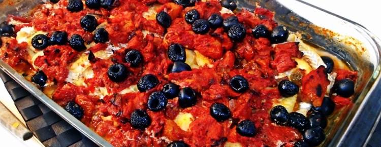 Filetti di merluzzo alla greca