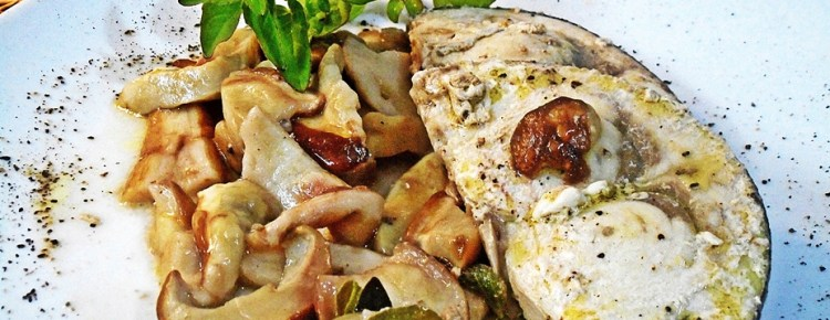 Pesce spada con funghi
