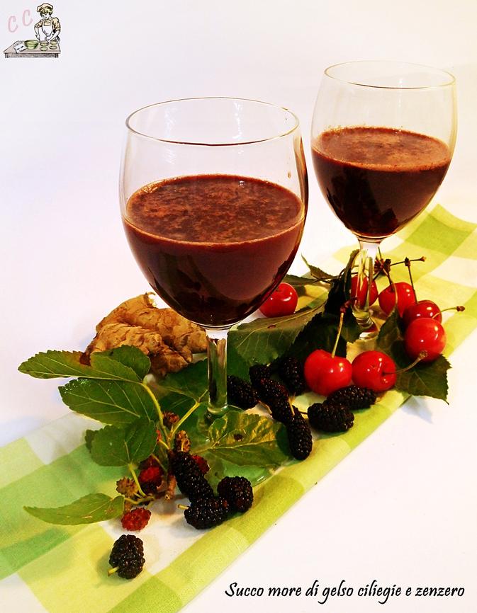 Succo more di gelso ciliegie e zenzero