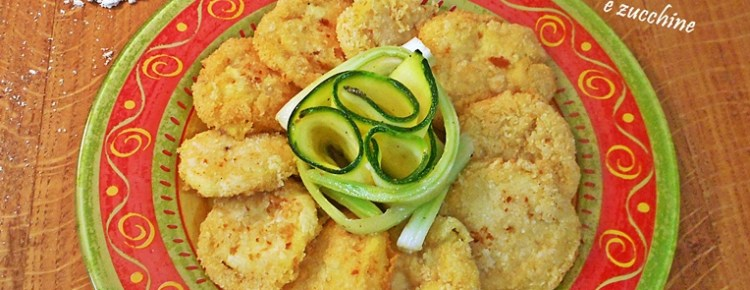 Frittelle di ceci con insalata di sedano e zucchine