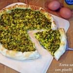 Torta salata con piselli e uova