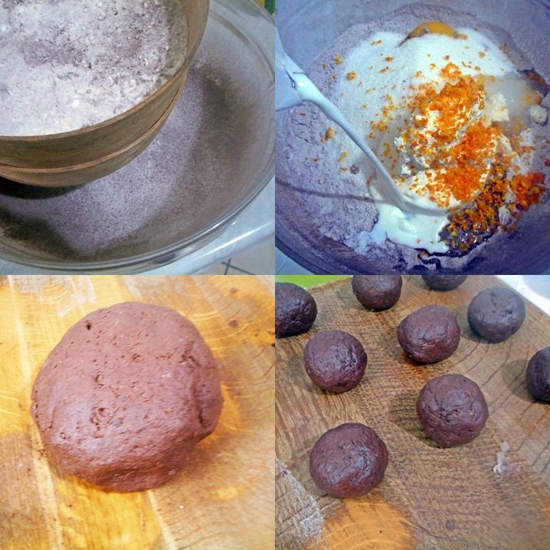 Castagnole ricotta e cacao