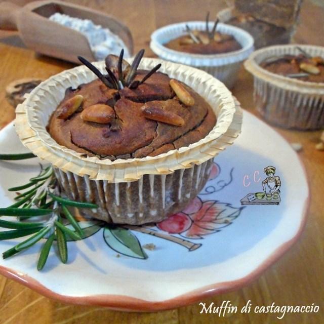 Muffin di castagnaccio