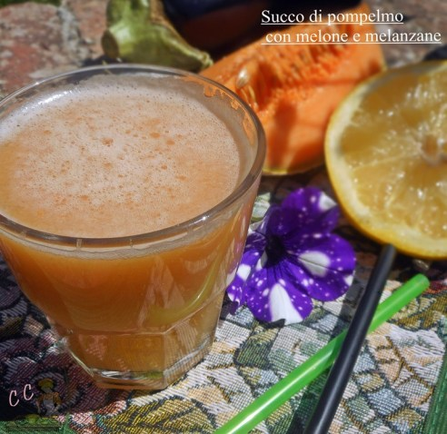 Succo di pompelmo con melone e melanzana