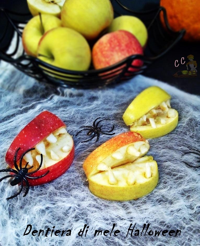 Dentiera di mele Halloween