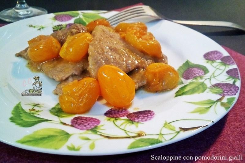 Scaloppine con pomodorini gialli