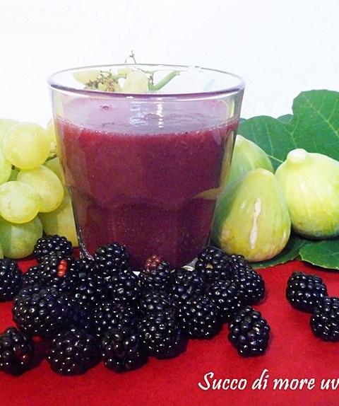 Succo di more uva e fichi