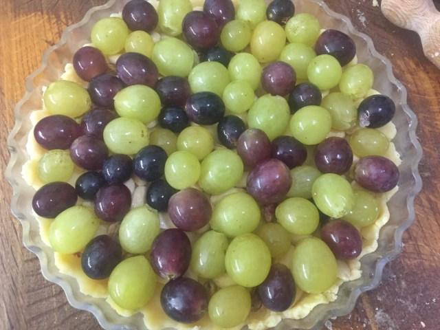 Uva in crostata dolce