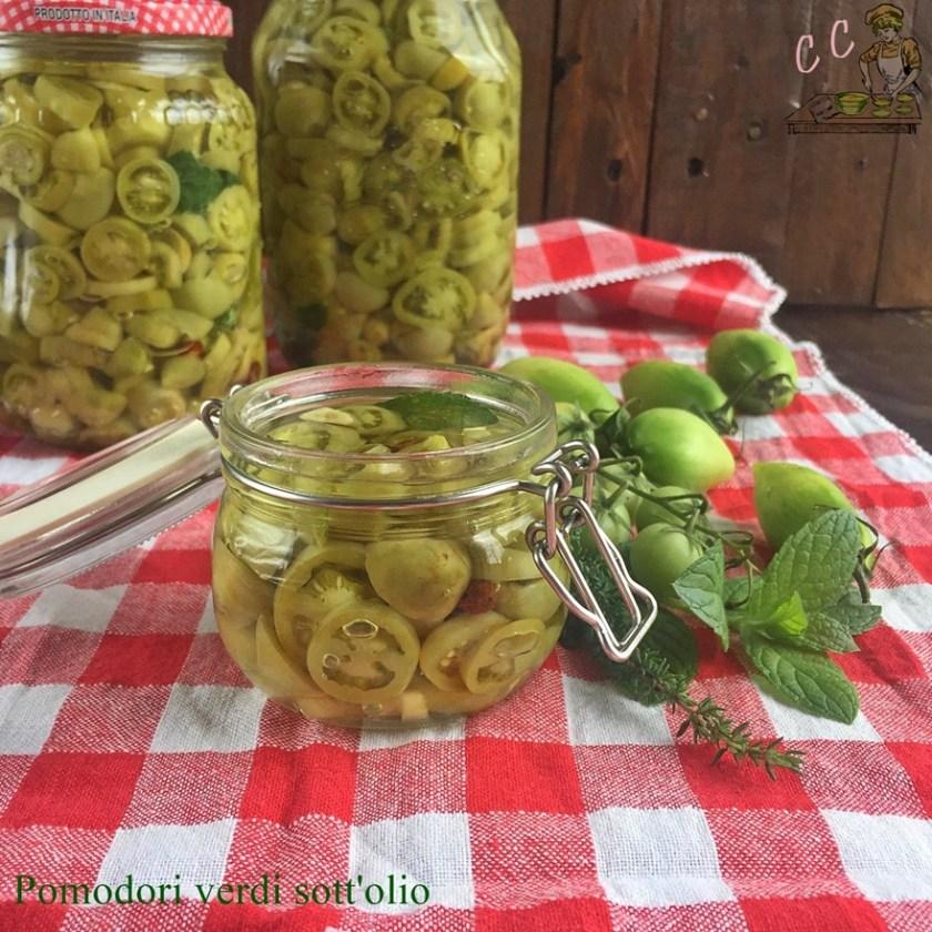 Pomodori verdi sott olio