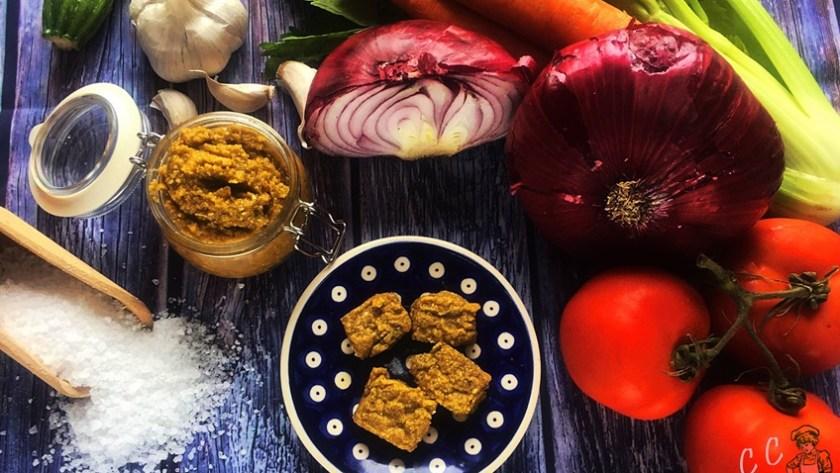 Dado vegetale preparato in casa