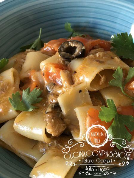 pasta sgombro, olive e pomodorini Pasta sgombro, olive e pomodorini Pasta sgobro olive compressor