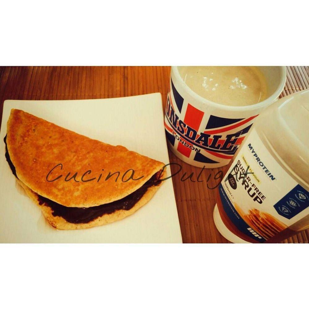 #dulight #cucinadulight #dukandiet #dukan #healthy #breakfast #pancake. #protein #jctella #myprotein #vanilla #mysyrup #chiaseeds #cinnamon