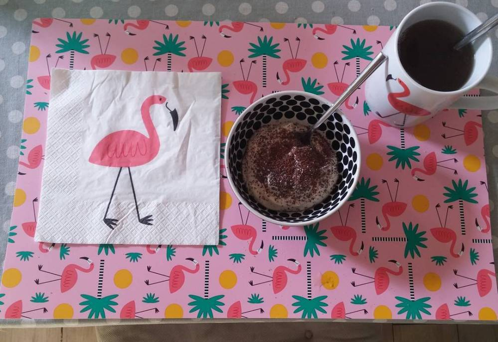 #goodmorning #breakfast #greekyogurt #lidlitalia #milbona #chia #seeds #cacao #whey #protein #pinkflamingo #tiger #summer #pp #quartafase #dukan #diet #healthyfood #cucinadulight