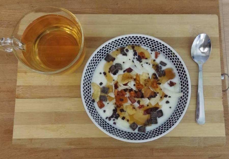 #goodmorning #breakfast #winter #yogurt #fruttasecca #cioccolato #sciroppozero #lightfood #dukan #dieta #diet #quartafase #vividulight #fitness #healthy #cucinadulight