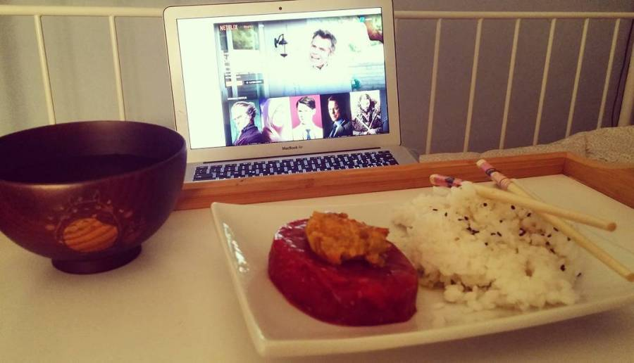 #dinner #tartare #rise #vegetable #cream #totoro #swordartonline #anime #japan #netflix #nerd #thenerdsideoflight #bed #dukan #diet #quartafase #cucinadulight