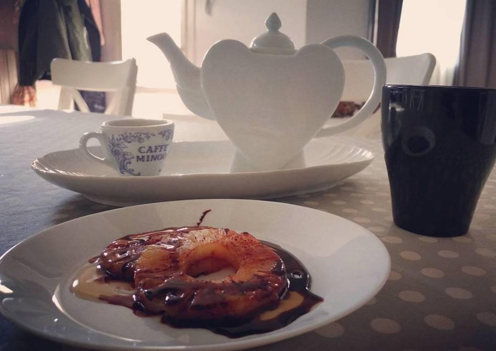 #breakfast #goodmorning #colazione #pineapple #ananas #sciroppozero #coffee #tea #teiera #kasanova #dukan #diet #quartafase #fitness #energy #lightfood #spring #cucinaproteica #cucinadulight