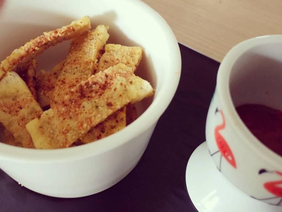 #chips #tofu #ketchup alla #stevia #snack #pausa #lightfood #dieta #dukan #diet #fast & #easy #healthyfood #healthylife #veg #flamingo #tiger #pausa #cucinadulight