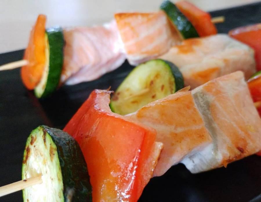 #spiedini #salmone #verdure #proteine #dukan #diet #quartafase #dieta #fitness #lightfood #fitfood #grigliata #weightloss #newlife #chef #cheflife #cucinaproteica