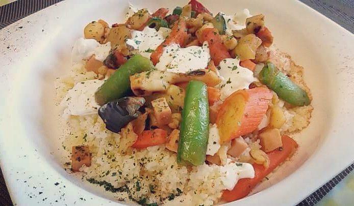 #lunch #couscous #verdure #pesce #fish & #vegetables #cotto e #mangiato #cucinaproteica #dukan #diet #quartafase