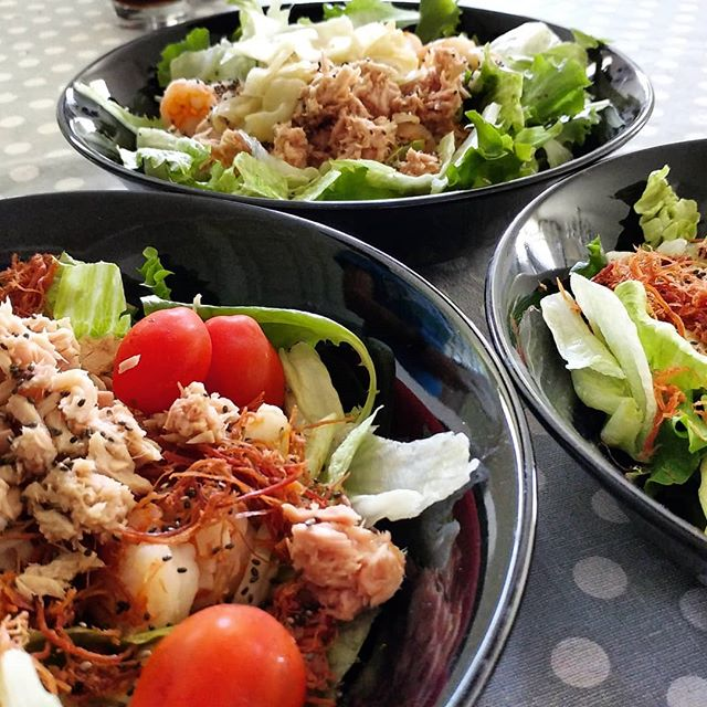 Col sole arriva la voglia di insalatona! #salad #insalatona #pomodorini #tonno #straccetti #manzo #chia #gamberi #dukan #diet #benessere #lightfood #fitness #fitfood #dukanitalia #weightloss #wayoflife #cucinaproteica #cibosano #cucinadulight