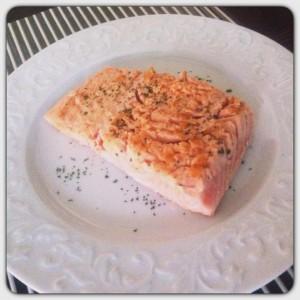 Trancio di salmone scottato
