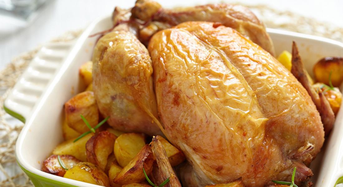 Pollastro a rosto co-e patatte ()