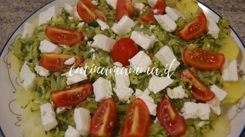 Patate e zucchine con feta