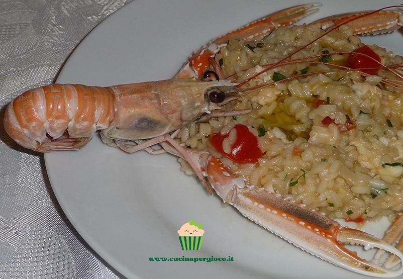 cucinapergioco risotto di scampi
